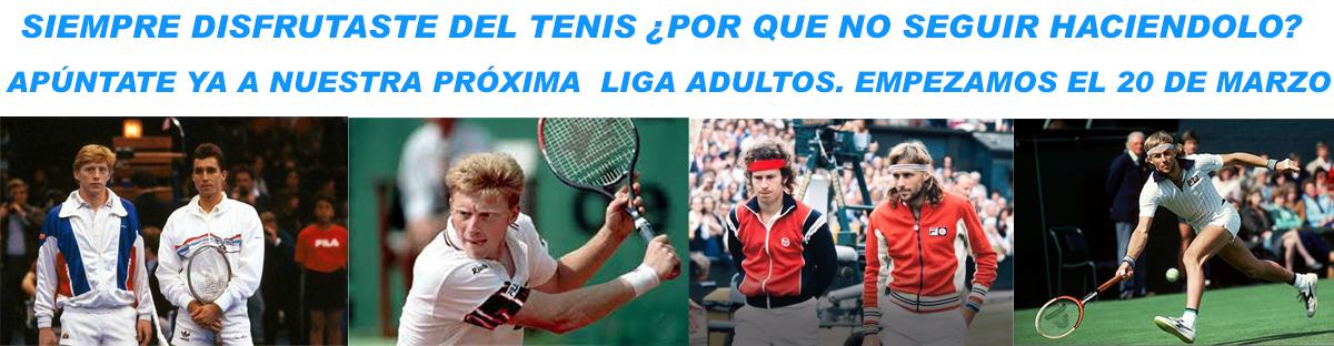 Escuela Tenis 92. Liga de tenis adultos en náquera valencia